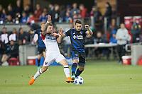 Santa Clara, CA - Saturday May 19, 2018: D.C. United defeated the San Jose Earthquakes 3-1 in a Major League Soccer (MLS) game at Avaya Stadium.