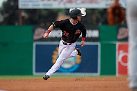 Batavia Muckdogs J.D. Orr (22) running the bases during a NY-Penn League game against the Auburn Doubledays on June 19, 2019 at Dwyer Stadium in Batavia, New York.  Batavia defeated Auburn 5-4 in eleven innings in the completion of a game originally started on June 15th that was postponed due to inclement weather.  (Mike Janes/Four Seam Images)