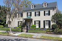 New Orleans, Louisiana.  Two-story Gabled House in the  Garden District.
