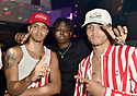 MIAMI, FL - JULY 09: Recording artist Jonny Dilakian and AAron Dilaikian of JNA and Hamody (C) attend Miami Swim week JNA after party single release event at Racket Wynwood on July 9, 2021 in Miami, Florida. ( Photo by Johnny Louis / jlnphotography.com )