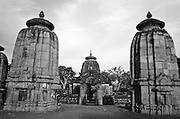 Entrance to the Mukteswar Temple, Bhubaneswar, India.