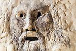 Boca della Verita mouth of truth sculpture at the Basilica di Santa Maria in Cosmedin in Rome Italy