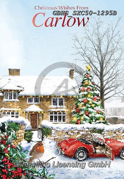 John, CHRISTMAS LANDSCAPES, WEIHNACHTEN WINTERLANDSCHAFTEN, NAVIDAD PAISAJES DE INVIERNO, paintings+++++,GBHSSXC50-1295B,#XL#