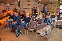 Netherlands, Alphen aan den Rijn, September 08, 2015, Tennis,  Press conference Davis Cup, Captain Jan Siemerink explains his selection for the team  <br /> Photo: Tennisimages/Henk Koster