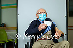 107 year old Michael O'Connor, Muckross Killarney after getting the Covid-19 vaccine at the Deenagh Medical Practice, Killarney on Wednesday.