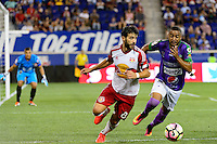 Harrison, NJ - Wednesday Aug. 03, 2016: Felipe Martins, Manfred Russell during a CONCACAF Champions League match between the New York Red Bulls and Antigua at Red Bull Arena.