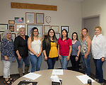 A photograph taken during the Nevada Women's Fund Scholarship distribution, June 21, 2019.