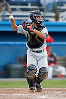 Mahoning Valley Scrappers Alex Lavisky #13 during the second game of a doubleheader against the Batavia Muckdogs at Dwyer Stadium on August 22, 2011 in Batavia, New York.  Mahoning Valley defeated Batavia 11-3.  (Mike Janes/Four Seam Images)