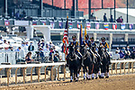 November 7, 2020 The Keeneland Color Guard presents the colors before the Filly & Mare Sprint on Breeders' Cup Championship Saturday at Keeneland Race Course in Lexington, Kentucky on November 7, 2020. Wendy Wooley/Breeders' Cup/Eclipse Sportswire/CSM