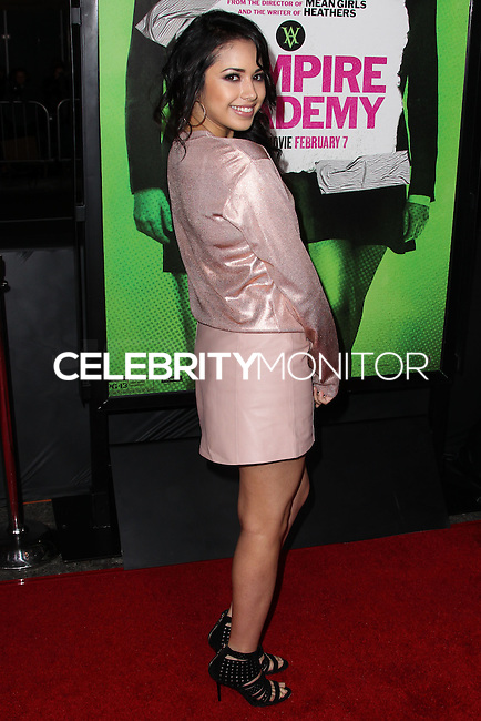 """LOS ANGELES, CA - FEBRUARY 04: Jasmine Villegas at the Los Angeles Premiere Of The Weinstein Company's """"Vampire Academy"""" held at Regal Cinemas L.A. Live on February 4, 2014 in Los Angeles, California. (Photo by Xavier Collin/Celebrity Monitor)"""