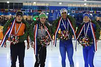 SCHAATSEN: HEERENVEEN, IJsstadion Thialf, 28-01-2018, NK Sprint/Allround, winnaars., ©foto Martin de Jong
