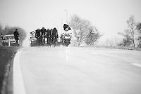 the breakaway fighting through the snow<br /> <br /> 102nd Liège-Bastogne-Liège 2016
