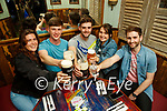 Enjoying a drink in Molly J's Benners on Monday were l-r: Candice Sharpe (Canada), Sam Boyle, Morgan Moriarty and Karolina Data (Tralee) with Philip Lyons (Farranfore).