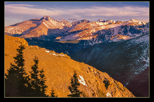 Longs Peak (left), Rocky Mountain National Park, Colorado.<br /> John leads Rocky Mountain National Park photo tours and hikes. Year-round sightseeing.