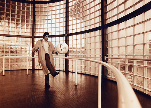 RANGERS MONTHLY FEATURE, GABRIEL AMATO IN THE GLASS TURRETS OF IBROX STADIUM'S MAIN STAND, ROB CASEY PHOTOGRAPHY.