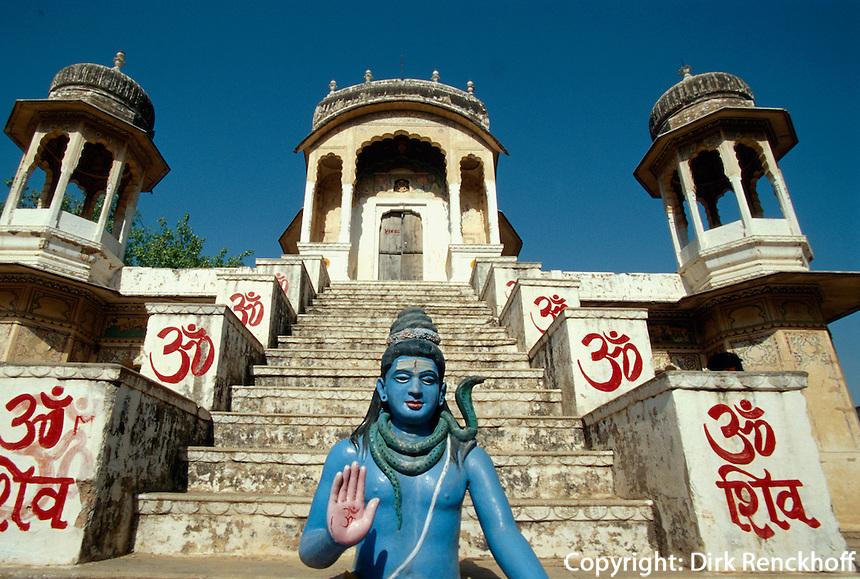 Indien, Tempel in Mukundgarh (Rajasthan)