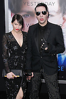 """WESTWOOD, LOS ANGELES, CA, USA - APRIL 10: Lindsay Usich, Marilyn Manson at the Los Angeles Premiere Of Warner Bros. Pictures And Alcon Entertainment's """"Transcendence"""" held at Regency Village Theatre on April 10, 2014 in Westwood, Los Angeles, California, United States. (Photo by Xavier Collin/Celebrity Monitor)"""
