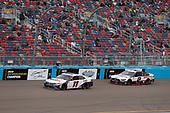 #11: Denny Hamlin, Joe Gibbs Racing, Toyota Camry FedEx Express, #2: Brad Keselowski, Team Penske, Ford Mustang Discount Tire