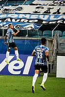 PORTO ALEGRE, (RS), 19.03.2021 - GREMIO - AIMORE – O jogador Guilherme Azevedo, da equipe do Grêmio, comemora o seu gol, na partida entre Grêmio e Aimoré, válida pela 5ªrodada do Campeonato Gaúcho 2021, no estádio Arena do Grêmio, em Porto Alegre, nesta sexta-feira (19).
