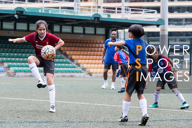 Hong Kong children at a morning training session with for the launch of the Premier League Asia Trophy 2017 at the Hong Kong Football Club on 01 June 2017 in Hong Kong, China Photo by Chris Wong / Power Sport Images
