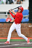 Johnson City Cardinals second baseman J.D. Murders (8) swings at a pitch during a game against the Danville Braves at TVA Credit Union Ballpark on July 23, 2017 in Johnson City, Tennessee. The Cardinals defeated the Braves 8-5. (Tony Farlow/Four Seam Images)