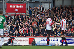 Brentford 0 Doncaster Rovers 1, 27/04/2013. Griffin Park, League One. Griffin Park hosts a showdown between two clubs aiming for automatic promotion from League One. The teams and fans get ready to battle for promotion. Photo by Simon Gill.