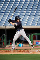 New York Yankees Eric Wagaman (16) at bat during a Florida Instructional League game against the Philadelphia Phillies on October 12, 2018 at Spectrum Field in Clearwater, Florida.  (Mike Janes/Four Seam Images)