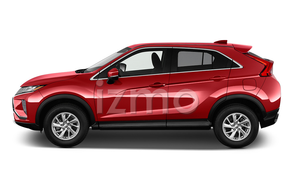 Car driver side profile view of a 2018 Mitsubishi Eclipse Cross Style 5 Door SUV