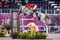 BEL-Gregory Wathelet rides Nevados S during the Jumping Individual Final. Tokyo 2020 Olympic Games. Wednesday 4 August 2021. Copyright Photo: Libby Law Photography