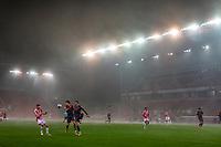 29th December 2020; Bet365 Stadium, Stoke, Staffordshire, England; English Football League Championship Football, Stoke City versus Nottingham Forest; The fog starts to descend upon the stadium