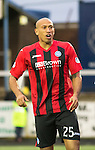 Forfar Athletic v St Johnstone....08.02.14   Scottish Cup 5th Round<br /> Chris Iwelumo<br /> Picture by Graeme Hart.<br /> Copyright Perthshire Picture Agency<br /> Tel: 01738 623350  Mobile: 07990 594431