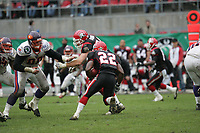 Daniel BEnetka (Defensive Tackle Frankfurt Galaxy) gegen Fred Russell (Runningback COlogne Centurions)