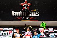 1/ Mathieu van der Poel (NED/Beobank-Corendon)<br /> 2/ Taco van der Hoorn (NED/Roompot-Nederlandse Loterij)<br /> 3/ Wout Van Aert (BEL/Vérandas Willems-Crelan)<br /> <br /> Dwars door het Hageland (1.1)<br /> 1 Day Race: Aarschot > Diest (194km)