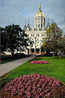The Connecticut State Capitol Building in Hartford. Hartford Connecticut USA.