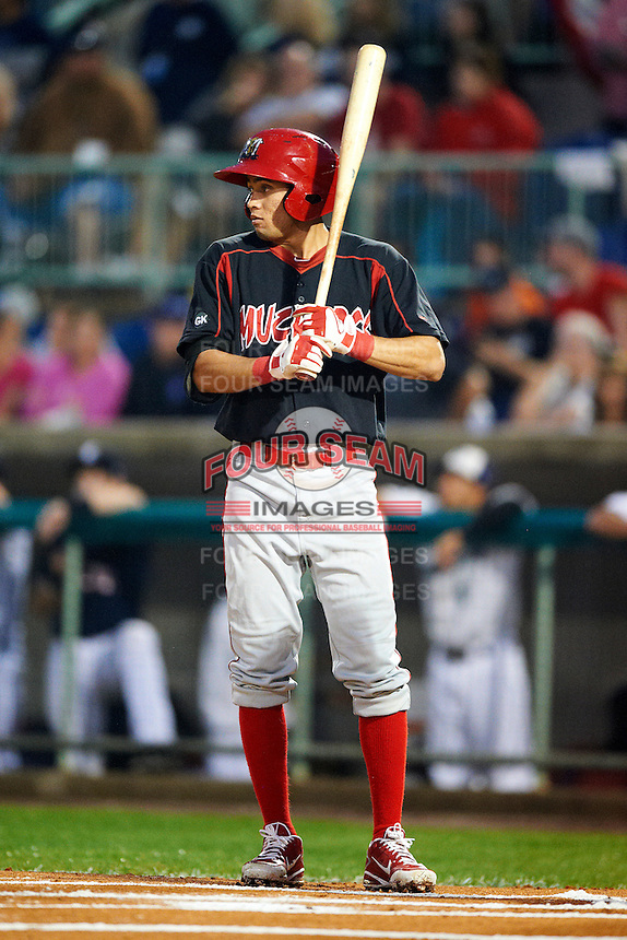 Batavia Muckdogs second baseman Breyvic Valera #46 during the NY-Penn League All-Star Game at Eastwood Field on August 14, 2012 in Niles, Ohio.  National League defeated the American League 8-1.  (Mike Janes/Four Seam Images)