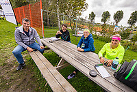Netherlands, September 5,  2020, Amsterdam, Padel Dam, NK Padel, National Padel Championships, ltr: Richard Krajicek, Jacco Eltingh, Michaella Krajicek and Steffie Weterings.<br /> Photo: Henk Koster/tennisimages.com
