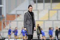 Casey Stoney during the English Womens Championship match between Manchester United Women and Leicester City Women at Leigh Sports Village, Leigh, England on 10 March 2019. Photo by James Gill / PRiME Media Images.