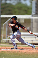 Miami Marlins Aaron Blanton (99) during a minor league spring training game against the St. Louis Cardinals on March 31, 2015 at the Roger Dean Complex in Jupiter, Florida.  (Mike Janes/Four Seam Images)