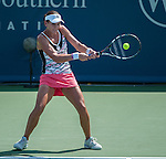 Chanelle Scheepers (RSA) plays at the Western and Southern Financial Group Masters Series in Cincinnati on August 15, 2012