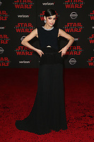 LOS ANGELES, CA - DECEMBER 9: Sofia Carson at the World Premiere of Lucasfilm's Star Wars: The Last Jedi at The Shrine Auditorium in Los Angeles, California on December 9, 2017.  Credit: Faye Sadou/MediaPunch /NortePhoto.com NORTEPHOTOMEXICO