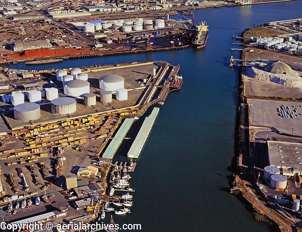 aerial photograph Lauritzen Channel, Port of Richmond, Contra Costa County, California
