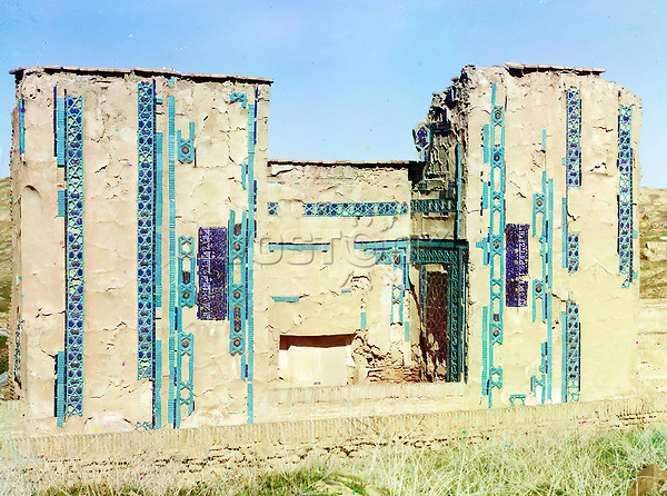 E1GKMD Tomb on the same side in the Passage of the Dead. Samarkand, Russia by Sergei Mikhailovich Prokudin-Gorskii, 1863-1944, photographer.