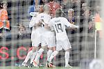 Real Madrid's Cristiano Ronaldo, Pepe and Luka Modric celebrate goal during La Liga match. April 2,2016. (ALTERPHOTOS/Acero)