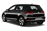 Car pictures of rear three quarter view of a 2018 Volkswagen Golf GTI SE 5 Door Hatchback angular rear