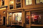 John and Beth having dinner at Vlam in de Pan Restaurant, Haarlem, Netherlands