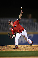 Georgia Bulldogs relief pitcher Addison Albright delivers a pitch to the plate against the Charlotte 49ers at BB&T Ballpark on March 8, 2016 in Charlotte, North Carolina. The 49ers defeated the Bulldogs 15-4. (Brian Westerholt/Four Seam Images)
