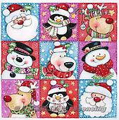 Interlitho, CHRISTMAS SANTA, SNOWMAN, WEIHNACHTSMÄNNER, SCHNEEMÄNNER, PAPÁ NOEL, MUÑECOS DE NIEVE, paintings+++++,9xsantas,snowmen,KL6011,#x# napkins stickers