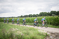 senior rider André Greipel (DEU/Israel-StartUp Nation) leading the way<br /> <br /> reconnaissance of the (delayed, due to the Covid19 pandemic) Paris-Roubaix course by Team Israel - StartUp Nation <br /> <br /> Nord-Pas de Calais region (FRA), 17 july 2020<br /> ©kramon