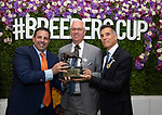 November 2, 2019: Connections for Vino Rosso, winner of the Longines Breeders' Cup Classic on Breeders' Cup World Championship Saturday at Santa Anita Park on November 2, 2019: in Arcadia, California. Bill Denver/Eclipse Sportswire/CSM