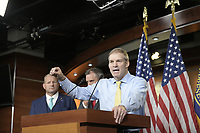 United States Representative Jim Jordan (Republican of Ohio) speaks at a hastily called press conference to announce he was pulling his selections for for the January 6 Commission in the US Capitol in Washington, DC on Wednesday, July 21, 2021.<br /> Credit: Rod Lamkey / CNP /MediaPunch